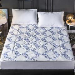 2018新款乳胶枕床垫 90*200cm 蓝