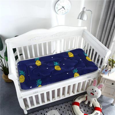 2018新款4D水晶绒儿童床垫幼儿园床垫婴儿床床垫 60*120cm 法兰绒菠萝