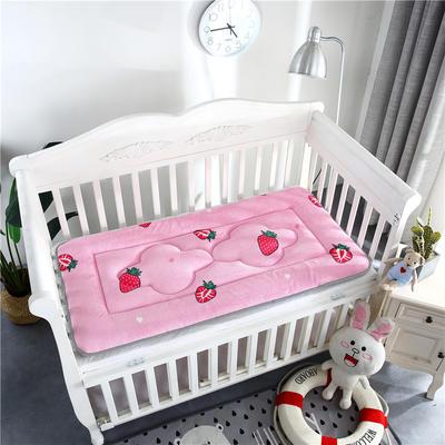 2018新款4D水晶绒儿童床垫幼儿园床垫婴儿床床垫 60*120cm 法兰绒草莓