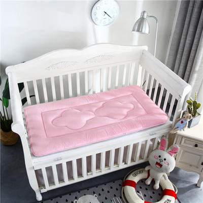 2018新款4D水晶绒儿童床垫幼儿园床垫婴儿床床垫 60*120cm 水晶绒粉色