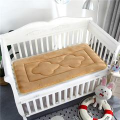 2018新款4D水晶绒儿童床垫幼儿园床垫婴儿床床垫 56*100cm 水晶绒驼色
