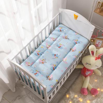 2019新款-全棉儿童床垫 70X150cm 小飞象蓝
