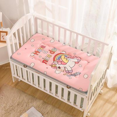 2019新款水晶绒大版数码印花儿童床垫 60*120厘米 独角兽