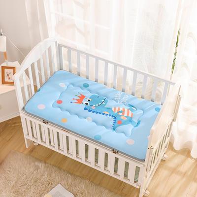 2019新款水晶绒大版数码印花儿童床垫 60*120厘米 皇冠小恐龙