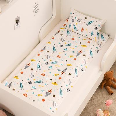 2020新款全棉13372全棉床垫套 幼儿园床垫套 60*120cm 小火箭
