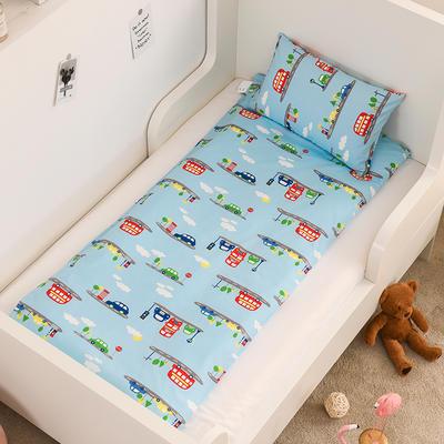 2020新款全棉13372全棉床垫套 幼儿园床垫套 60*120cm 小汽车-蓝