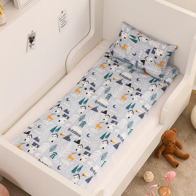 2020新款全棉13372全棉床垫套 幼儿园床垫套 60*120cm 雪屋