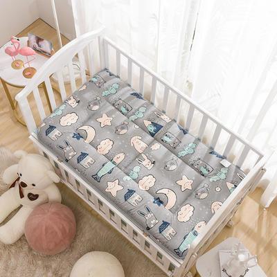 2020新款全棉儿童床垫-正反面全棉儿童床垫 60x120cm 海底世界-灰