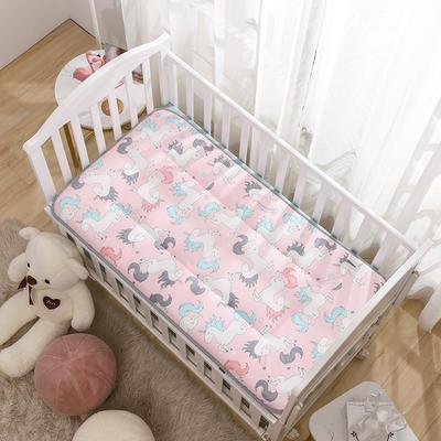 2020新款全棉儿童床垫-正反面全棉儿童床垫 60x120cm 小飞马