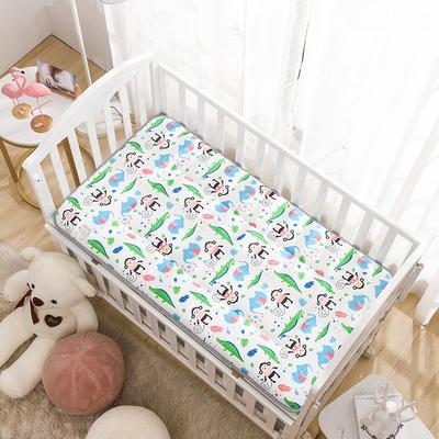 2020新款全棉儿童床垫-正反面全棉儿童床垫 60x120cm 小猴子