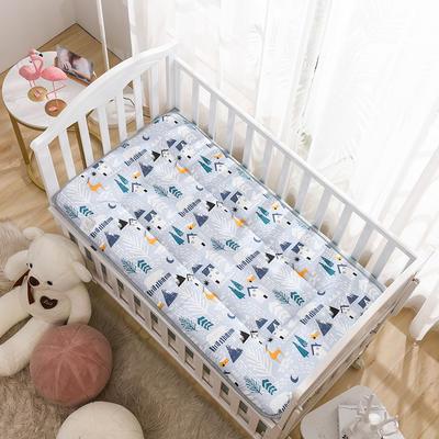 2020新款全棉儿童床垫-正反面全棉儿童床垫 60x120cm 雪屋