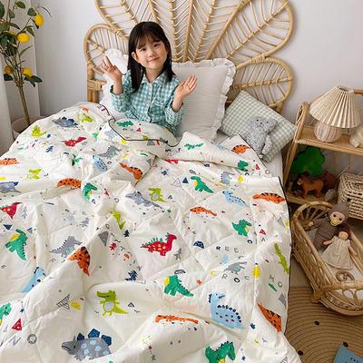 全棉133*72面料夏被 纯棉夏被 幼儿园夏被 儿童夏被 150x200cm 小恐龙
