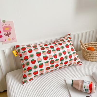 2020新款全棉儿童枕芯30X50厘米 草莓酱