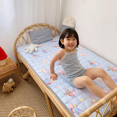 2020新款13372面料 全棉儿童床护垫 60x120cm 飞象蓝