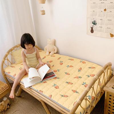 2020新款13372面料 全棉儿童床护垫 60x120cm 胡萝卜