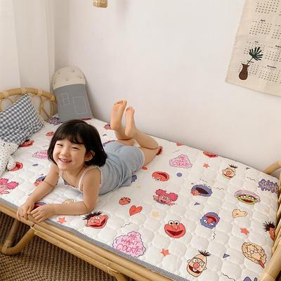 2020新款13372面料 全棉儿童床护垫 60x120cm 芝麻jie 白
