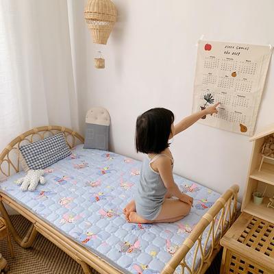 2020新款13372面料 全棉儿童床护垫加大尺寸 70x150cm 飞象蓝