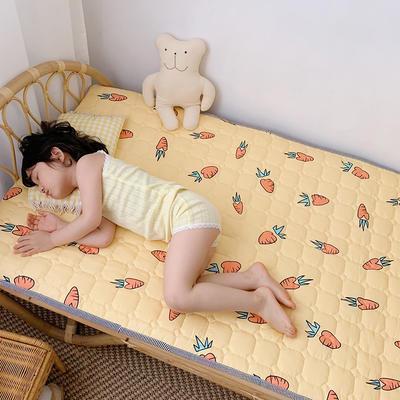 2020新款13372面料 全棉儿童床护垫加大尺寸 70x150cm 胡萝卜