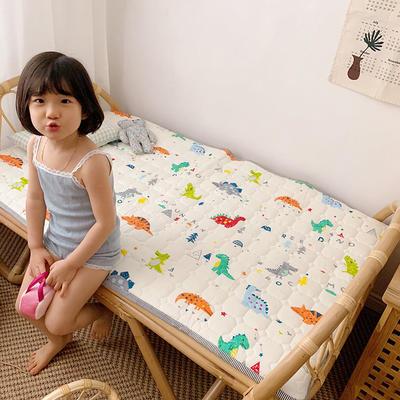 2020新款13372面料 全棉儿童床护垫加大尺寸 70x150cm 恐龙