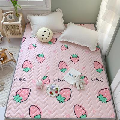 2020年新款全棉床垫(床护垫) 1.0x2米 草莓童话