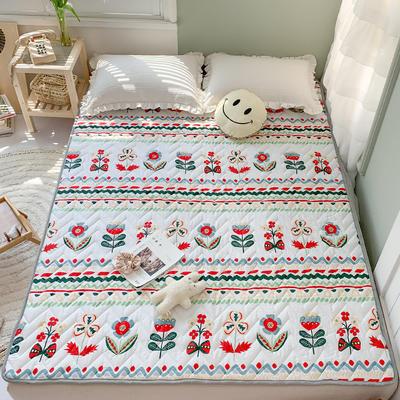 2020年新款全棉床垫(床护垫) 1.0x2米 淡雅芬芳