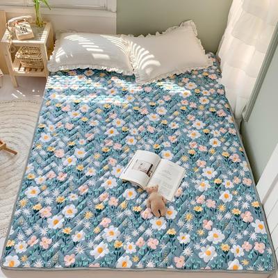 2020年新款全棉床垫(床护垫) 1.0x2米 田园花