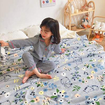 2020年ins网红爆款双层加厚羊羔绒毛毯盖毯牛奶绒毯床单休闲毯儿童毛毯印花毯子 120*150cm 花小猫