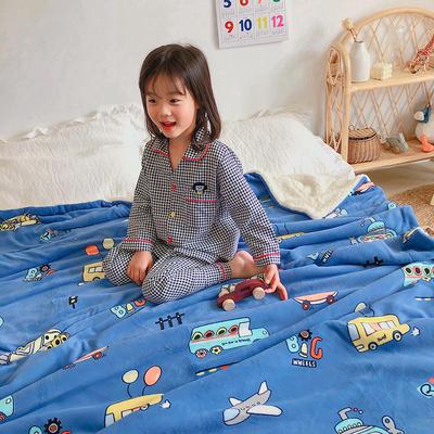 2020年ins网红爆款双层加厚羊羔绒毛毯盖毯牛奶绒毯床单休闲毯儿童毛毯印花毯子 120*150cm 总动员
