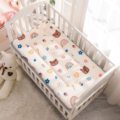 2020新款牛奶绒床垫 幼儿园床垫 儿童床垫 冬夏两用-系列一 60x120厘米 嘟嘟熊