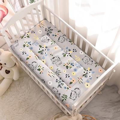 2020新款牛奶绒床垫 幼儿园床垫 儿童床垫 冬夏两用-系列一 60x120厘米 花小猫