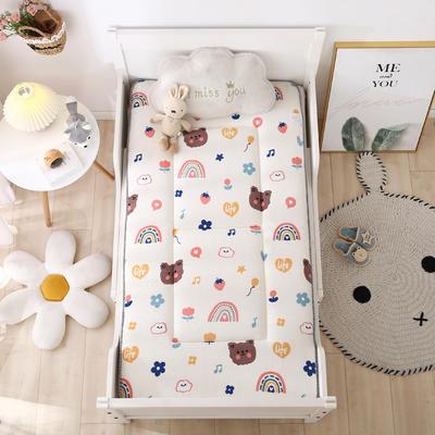 2020新款牛奶绒床垫 幼儿园床垫 儿童床垫 冬夏两用-系列二 60x120厘米 嘟嘟熊