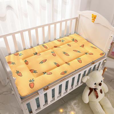 2020新款 全棉正面全棉+反面网布床垫 60x120cm 胡萝卜