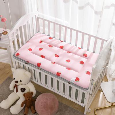 2020新款 全棉正面全棉+反面网布床垫 60x120cm 甜心草莓
