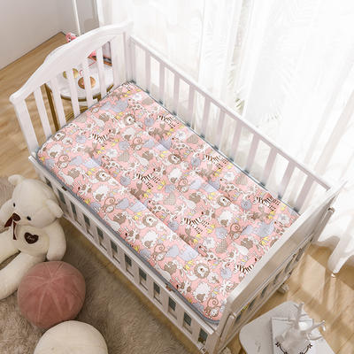 2021年新款宝宝床单床褥游戏毯午睡垫子全棉儿童床垫 60*120cm 动物狂欢
