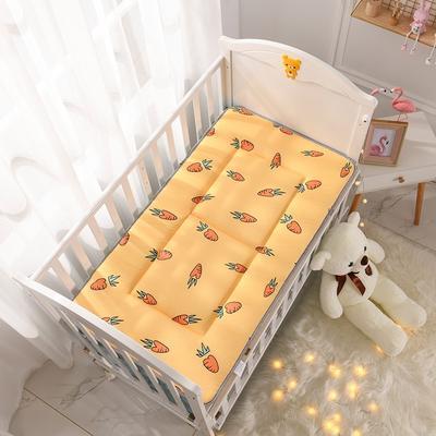 2021年新款宝宝床单床褥游戏毯午睡垫子全棉儿童床垫 60*120cm 胡萝卜