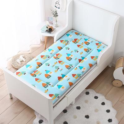 2021年新款宝宝床单床褥游戏毯午睡垫子全棉儿童床垫 60*120cm 田园小镇