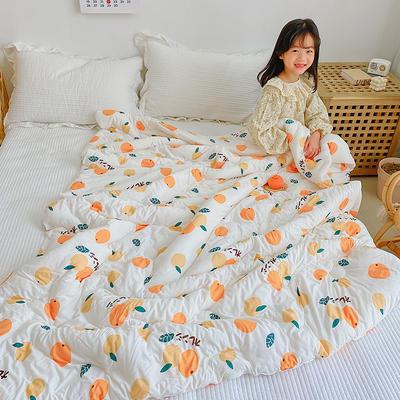 2021年新款夏被针织棉夏被儿童夏被单人夏被幼儿园夏被 150x200cm 小橘子