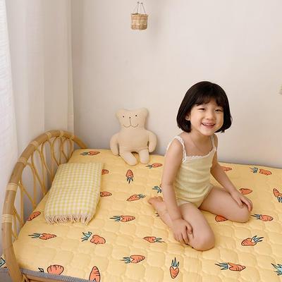 2021新款全棉儿童床垫1.5厚度 60*120厘米 胡萝卜