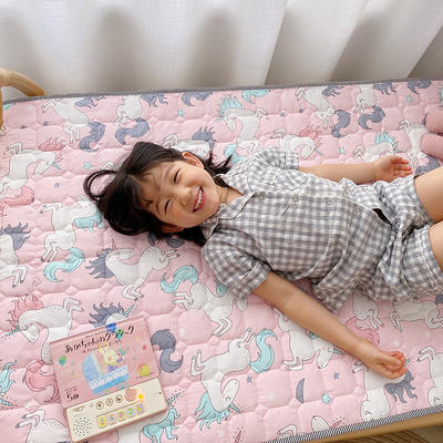 2021新款全棉儿童床垫1.5厚度 60*120厘米 小飞马粉