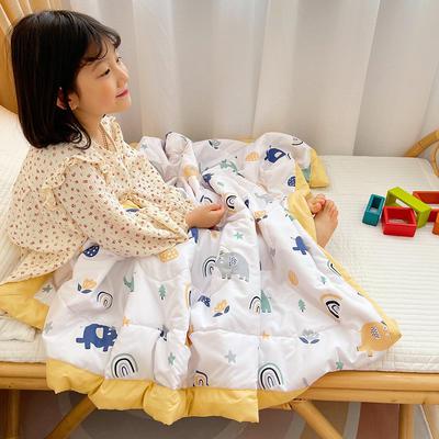 2021新款-水洗棉儿童夏被 幼儿园夏被 单人夏被 150x200cm 彩虹小象