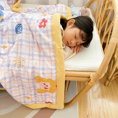 2021新款-水洗棉儿童夏被 幼儿园夏被 单人夏被 150x200cm 甜馨女孩
