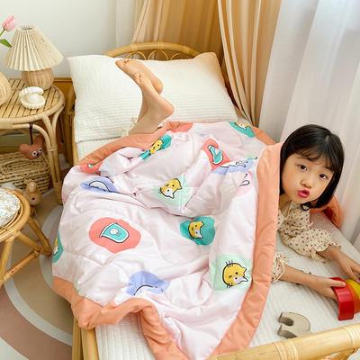 2021新款-水洗棉儿童夏被 幼儿园夏被 单人夏被 150x200cm 小花猫