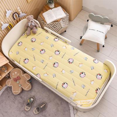 2021新款加厚款全棉床垫 加厚幼儿园床垫 儿童床垫床褥 可拆洗 60*120cm 草莓奶牛-可拆款