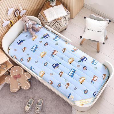 2021新款加厚款全棉床垫 加厚幼儿园床垫 儿童床垫床褥 可拆洗 60*120cm 马路巴士-可拆款