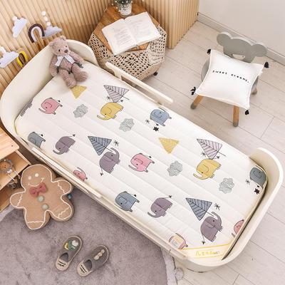 2021新款加厚款全棉床垫 加厚幼儿园床垫 儿童床垫床褥 可拆洗 60*120cm 小象-加厚款