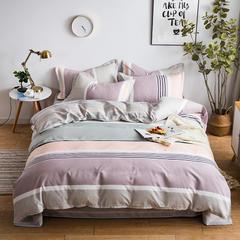 2018新款植物羊绒AB版加厚磨毛四件套 1.2m(4英尺)床三件套 范甘迪-红