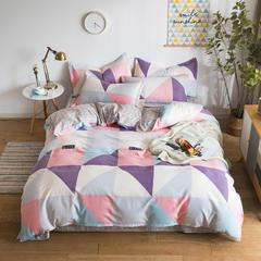 2018新款植物羊绒AB版加厚磨毛四件套 1.2m(4英尺)床三件套 潮牌时尚