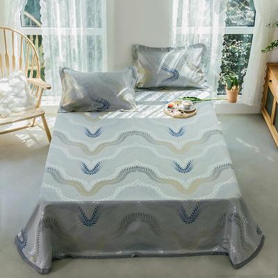 2020年新款 床單式 提花涼席 夏季可水洗干洗涼感冰絲涼席 尺寸250*250 波浪紋