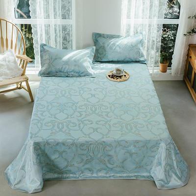 2020年新款 床單式 提花涼席 夏季可水洗干洗涼感冰絲涼席 尺寸250*250 夏綠