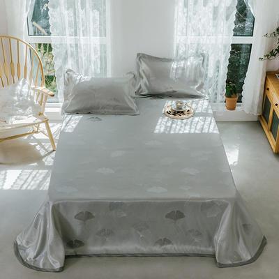 2020年新款 床單式 提花涼席 夏季可水洗干洗涼感冰絲涼席 尺寸250*250 銀杏葉